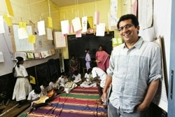 Umesh Malhotra at village-based Hippocampus Learning Centre
