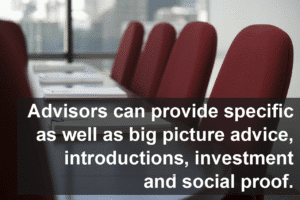 What value do advisors bring to the table?