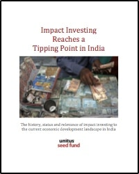 Cover for Impact Investing India Report