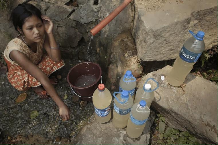 Girl no water